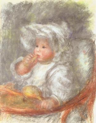 ピエール=オーギュスト・ルノワール《赤ん坊ジャン・ルノワール》(個人蔵)