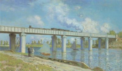 クロード・モネ《アルジャントゥイユの鉄橋》(個人蔵)