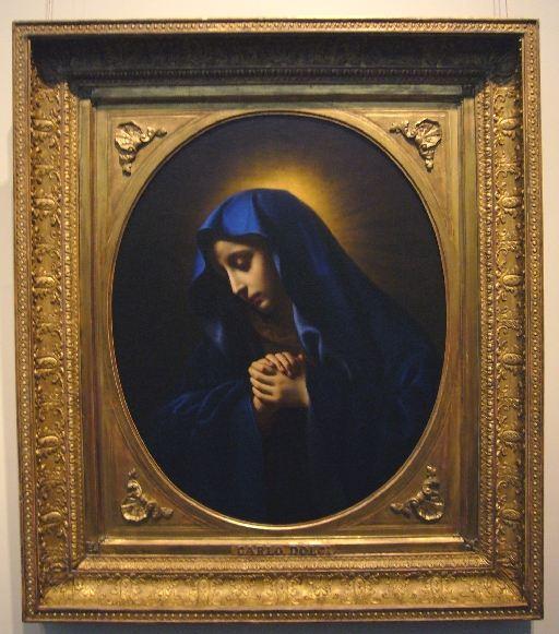 カルロ・ドルチ《悲しみの聖母》(国立西洋美術館蔵)