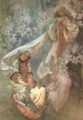 アルフォンス・ミュシャ《百合の聖母》