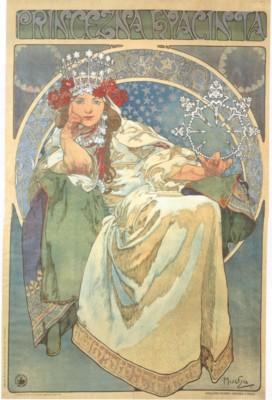 アルフォンス・ミュシャ《ヒヤシンス姫》