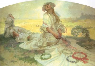 アルフォンス・ミュシャ《ボヘミアの唄》