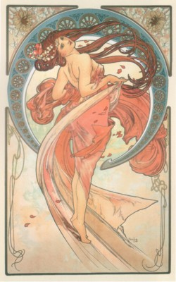 アルフォンス・ミュシャ《芸術:舞踏》