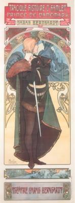 アルフォンス・ミュシャ《ハムレット》