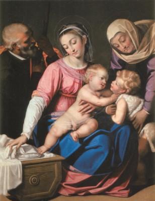 シピオーネ・ブルツォーネ《聖ヨハネと聖アンナのいる聖家族》