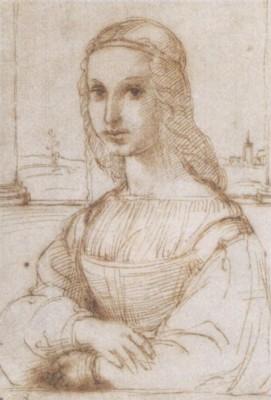 ラファエロ《若い女性のスケッチ》(ルーヴル美術館蔵)
