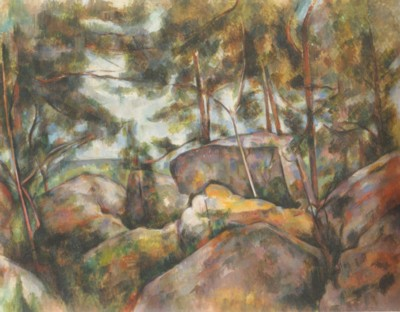 ポール・セザンヌ《フォンテーヌブローの岩》(メトロポリタン美術館蔵)
