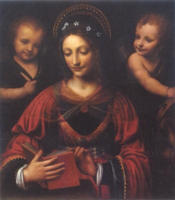 ベルナルディーノ・ルイーニ《聖カタリナ》(エルミタージュ美術館蔵)