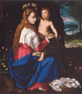 アレッサンドロ・アローリ《キリスト教会の寓意》(エルミタージュ美術館蔵)