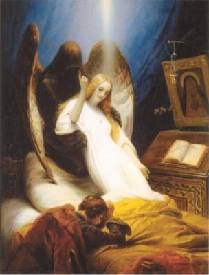 オラース・ヴェルネ《死の天使》(エルミタージュ美術館蔵)