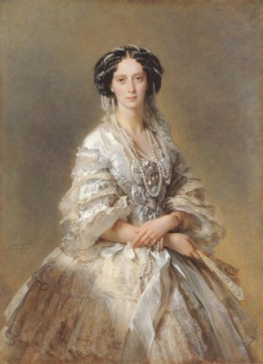 フランツ・クサファー・ヴィンターハルター《女帝マリア・アレクサンドロヴナの肖像》(エルミタージュ美術館蔵)