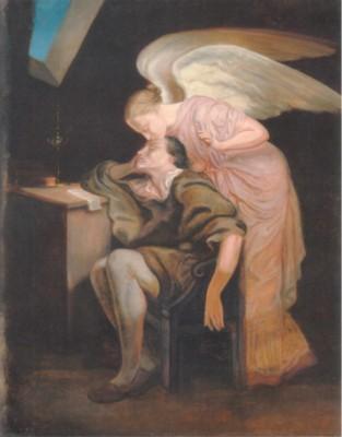 ポール・セザンヌ《女神の接吻-詩人の夢(フェリックス・ニコラ・フリリエによる)》(オルセー美術館蔵(グラネ美術館に寄託))