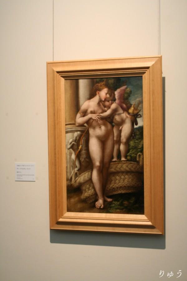 16世紀エミリア派(アレッサンドロ・ベドリ?)《ヴィーナスとキューピッド》(国立西洋美術館蔵)