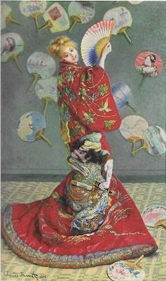 クロード・モネ《ラ・ジャポネーズ》(ボストン美術館蔵)