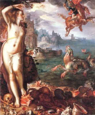 ヨアヒム・ウテワール《アンドロメダを救うペルセウス》