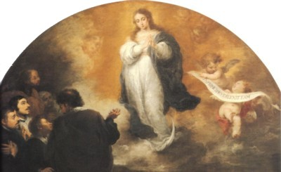 バルトロメ・エステバン・ムリーリョ《6人の人物の前に現れる無原罪の聖母》