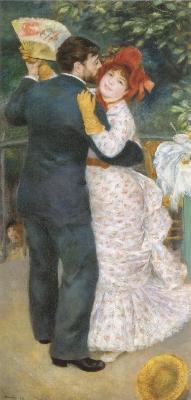 ピエール=オーギュスト・ルノワール《田舎のダンス》(オルセー美術館蔵)