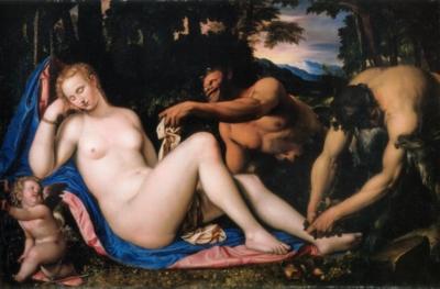 シモーネ・ペテルザーノ《ヴィーナス、キューピッドと二人のサテュロス》(ミラノ、ブレラ絵画館蔵)