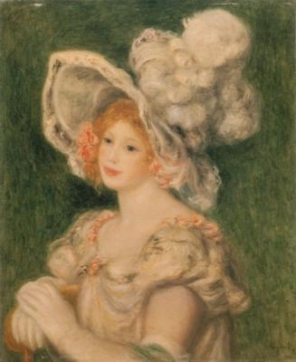 ピエール=オーギュスト・ルノワール《帽子をかぶった若い女性》(個人蔵)