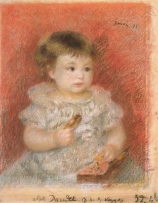 ピエール=オーギュスト・ルノワール《リュシアン・ドーデの肖像》(松岡美術館蔵)