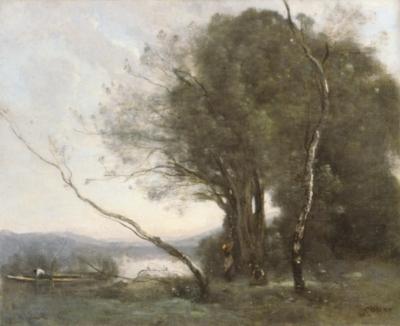 ジャン=バティスト=カミーユ・コロー《傾いだ木》(ロンドン、ナショナル・ギャラリー蔵)