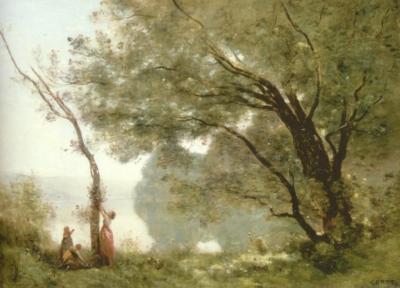 ジャン=バティスト=カミーユ・コロー《モルトフォンテーヌの想い出》(ルーヴル美術館蔵)