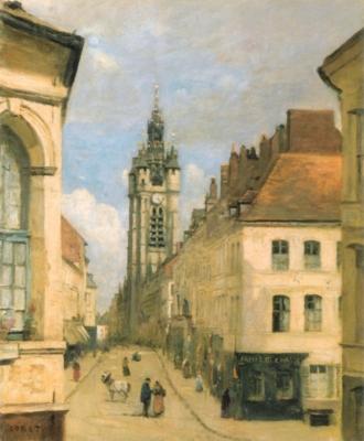 ジャン=バティスト=カミーユ・コロー《ドゥエの鐘楼》(ルーヴル美術館蔵)