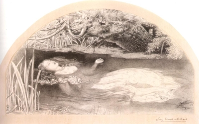 ジョン・エヴァレット・ミレイ《オフィーリアのための習作》(プリマス市立博物館/美術館蔵)