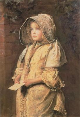 ジョン・エヴァレット・ミレイ《旦那様宛ての手紙》(ニューヨーク、フォーブズ・コレクション蔵)