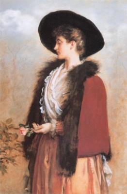 ジョン・エヴァレット・ミレイ《名残りのバラ》(ジェフロイ・リチャード・エヴァレット・ミレイ・コレクション蔵)