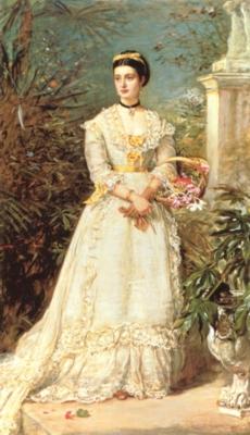 ジョン・エヴァレット・ミレイ《ハントリー公爵夫人》(個人蔵)