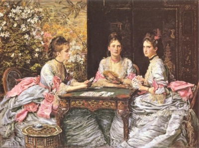 ジョン・エヴァレット・ミレイ《ハートは切り札_ウォーター・アームストロングの娘たち、エリザベス、ダイアナ、メアリーの肖像》(テート蔵)