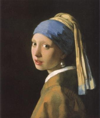 ヨハネス・フェルメール《真珠の耳飾りの少女》(デン・ハーグ、マウリッツハイス美術館蔵)