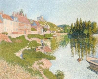 ポール・シニャック《レ・ザンドリー、河堤》