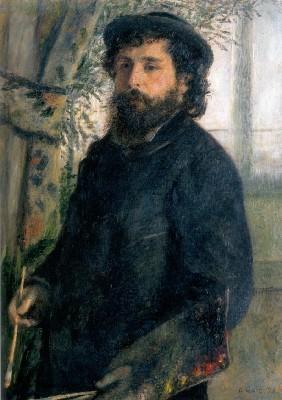 ピエール=オーギュスト・ルノワール《絵筆を持つクロード・モネ》